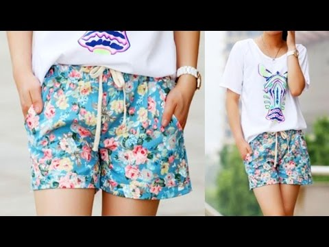 Яркие летние женские шорты в цветочек отличного качества (Aliexpress)