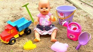 Кукла Играет в Песочнице Мультик Детский Парк Игрушки для Песка  108mamatv