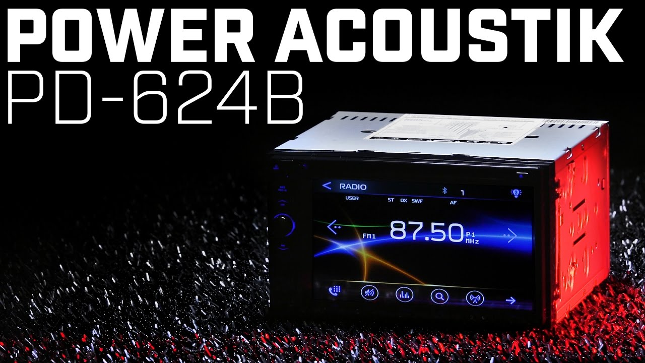 power acoustik pd 624b double din stereo [ 1280 x 720 Pixel ]