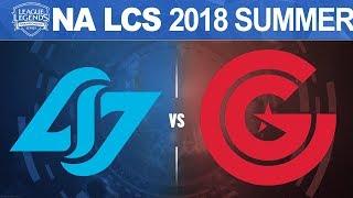 CLG vs CG - NA LCS 2018 Summer Split W9D1 - Counter Logic Gaming vs Clutch Gaming