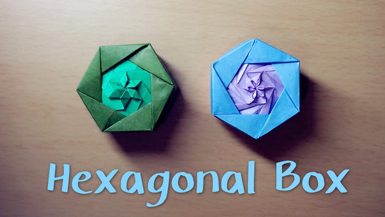 medium resolution of  hello malinda origami tutorial hexagonal box tomoko fuse