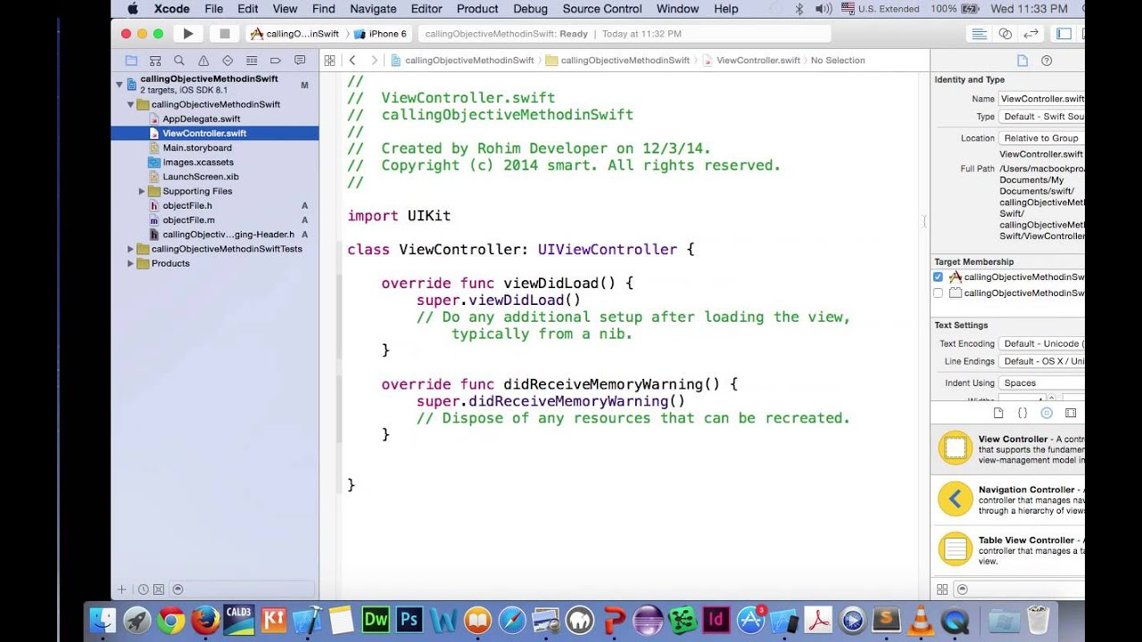 How To call ObjectiveC method From Swift
