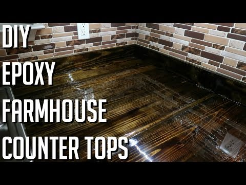 DIY | FARM HOUSE EPOXY COUNTER TOPS (2X8'S)