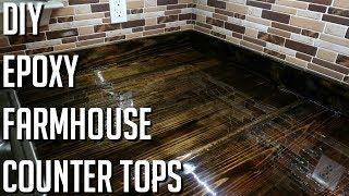 DIY | FARM HOUSE EPOXY COUNTER TOPS (2X8'S)