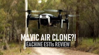 Mavic Air Clone?! Eachine E511s Review - Best Budget Drone? | DansTube.TV
