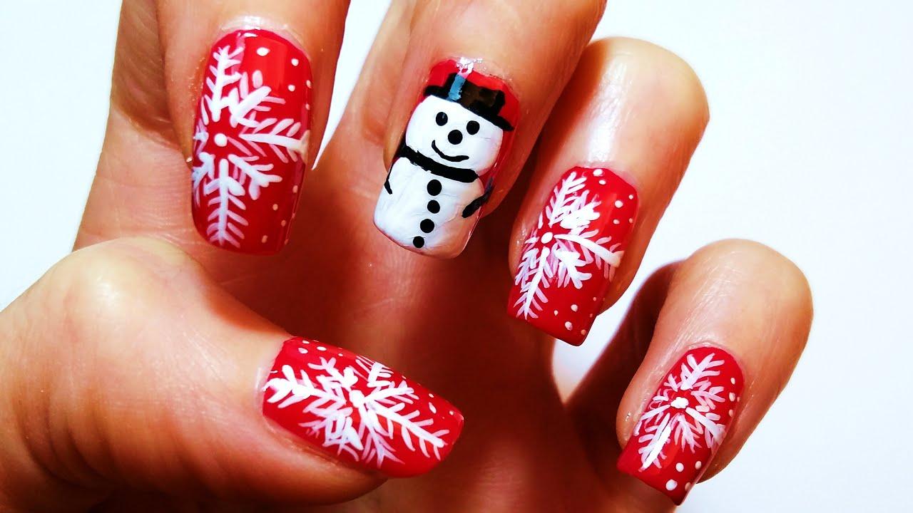 уникальные рисуем новогодние картинки на ногтях нас большой