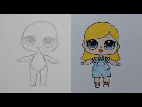 Je Eigen Lol Surprise Doll Leren Tekenen In Stappen Youtube