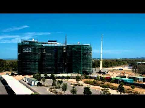 Port of Brisbane Office Construction Timelapse