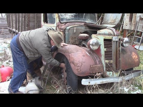 1938 GMC sits for 10 years - WILL IT START ???!!!