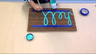 Little Paint Projects - Door Mat (Time Lapse)