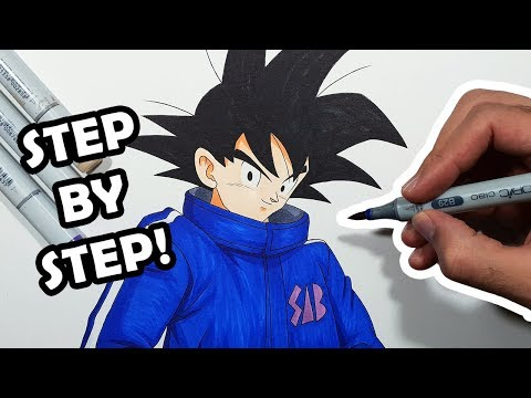 how-to-draw-goku---step-by-step-tutorial!-|new-outfit|