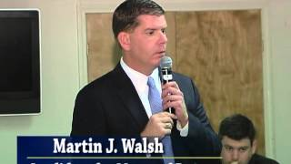 Marty Walsh, Candidate for Mayor of Boston