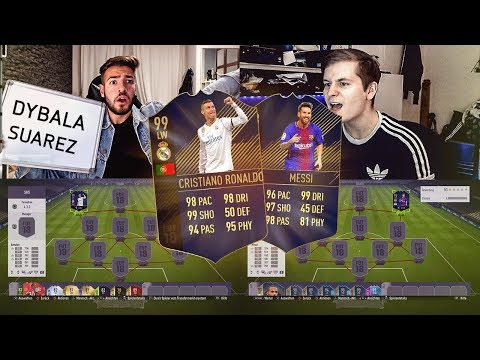 FIFA 18: TOTY RONALDO VS MESSI ESKALIERT Squad Builder Battle 😱💎Ultimate Team Wakez vs Realfifa 🔥