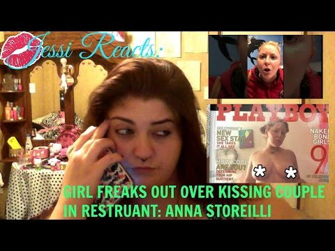 JESSI REACTS| Woman freaks out over kissing couple in restaurant:Anna Storelli
