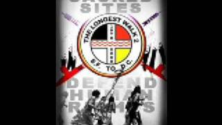 American Indian Movement Song Cahokia Mounds, Collinsville,  Illinois 2008