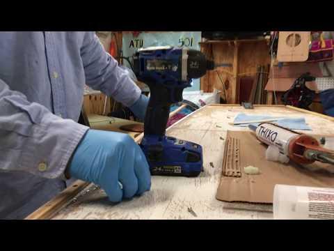 Alcort Super Sailfish ZSA ZSA 15 Dec 18 Epoxy Toe Rail and Rub Rail