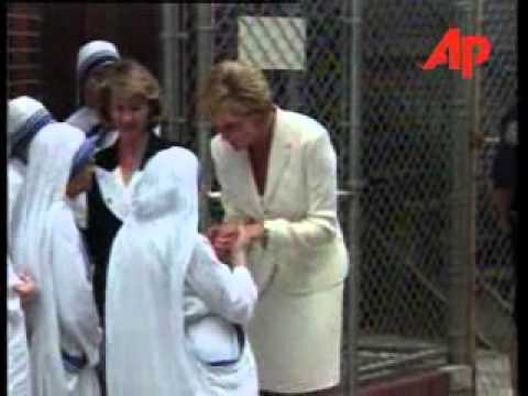 Princess Diana with Mother Teresa in NYC