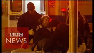 Why are there 60,000 homeless in NYC? - BBC News