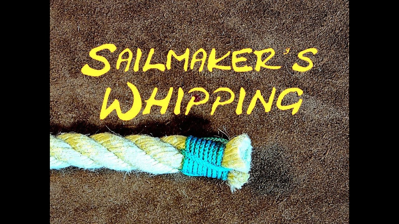 Sailmaker's Whipping - Whipping the End of a Rope (Without Needle)