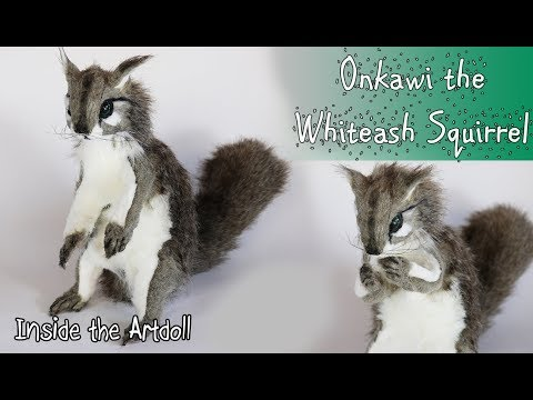Onkawi the Whiteash Squirrel - Poseable Artdoll