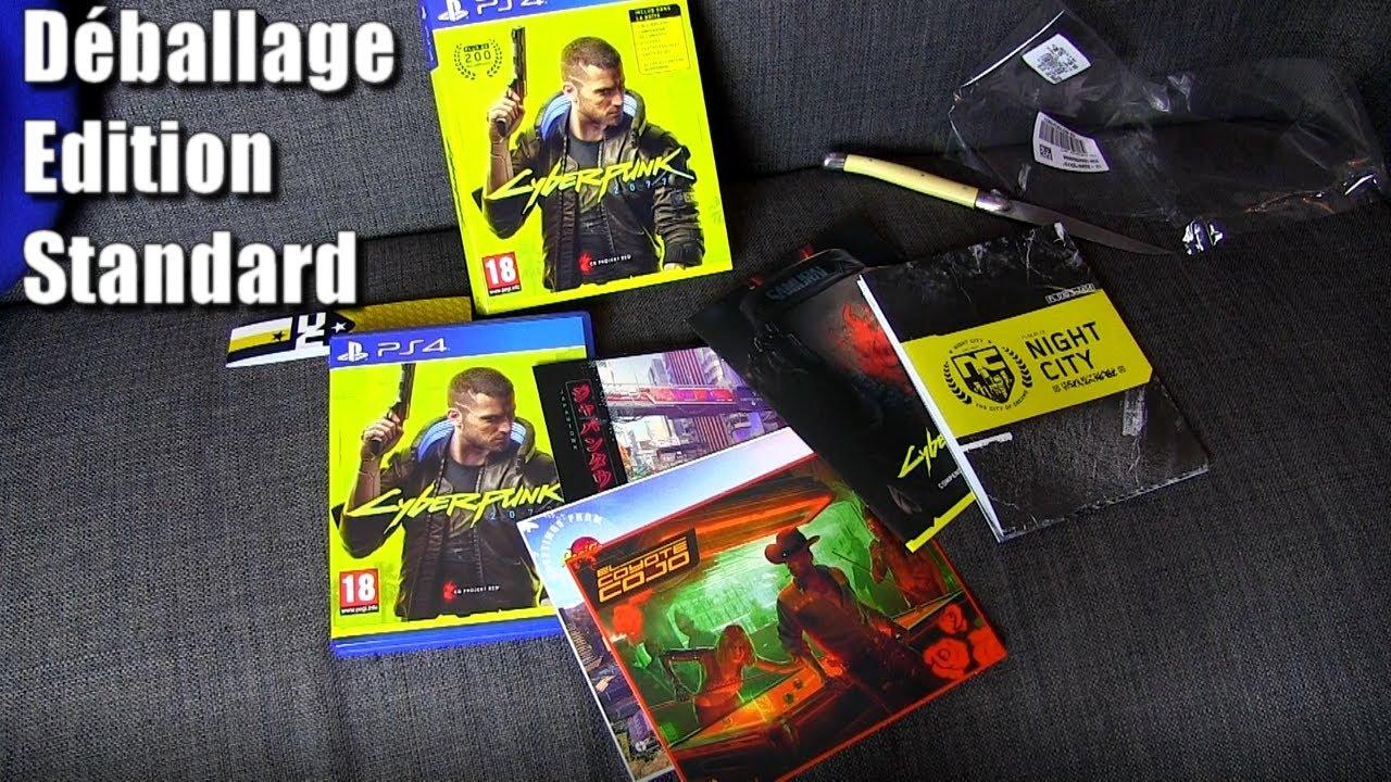 Cyberpunk 2077 Déballage Édition Standard (Cyberpunk PS5 and Cyberpunk PS4)