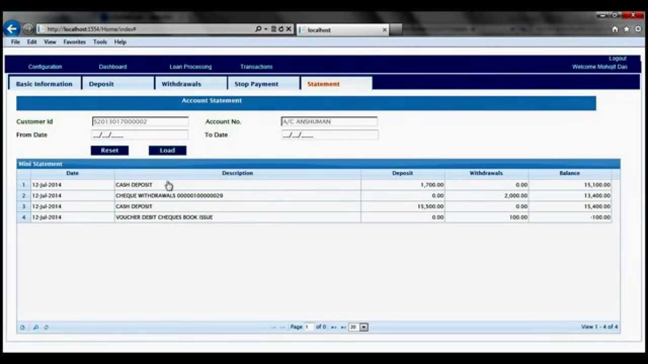 Bank Teller Management Amp Photo Id Signature Upload