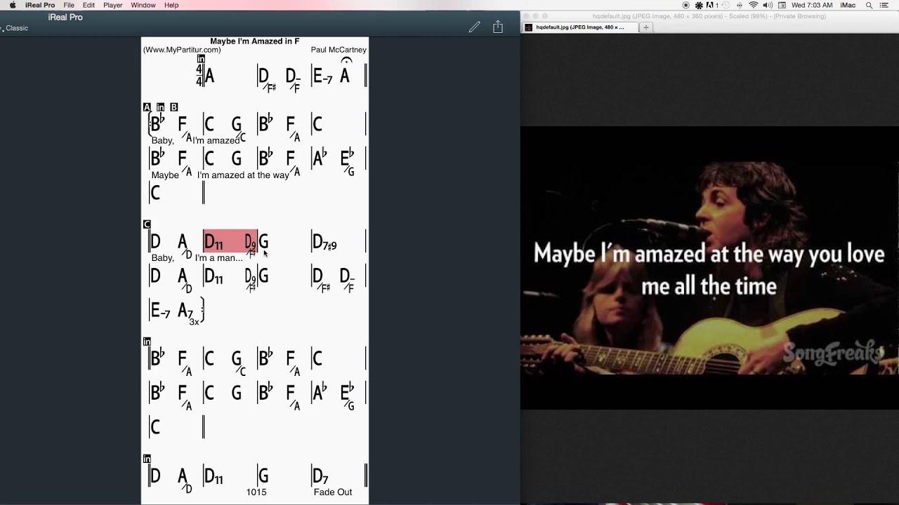 Maybe im amazed chords at mypartitur paul mcchartney youtube hexwebz Images
