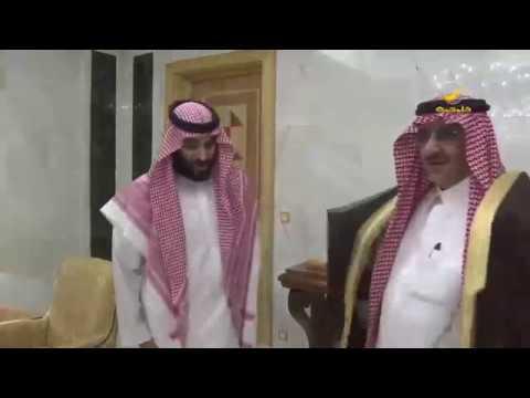الأمير محمد بن نايف عند مبايعة ولي العهد الأمير محمد بن سلمان