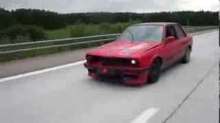 bmw e30 crazy highway drift
