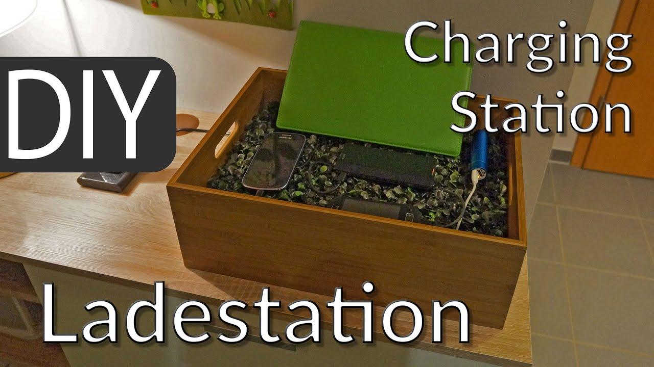 diy charging station for usb devices smartphones iphone tablets youtube. Black Bedroom Furniture Sets. Home Design Ideas