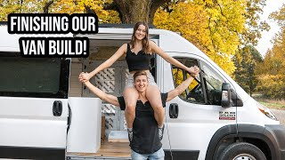 VAN LIFE BUILD: Finishing our TINY HOME on Wheels!! (Ep.5)