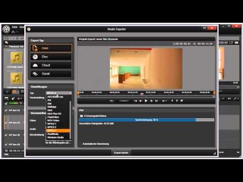 Export als Datei in Pinnacle Studio 16 und 17 Video 77 von 114