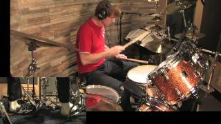 Drum Lesson No.6: 1/16 Note Rock Beats Part 2 Examples By CHRIS BRIEN  in HD