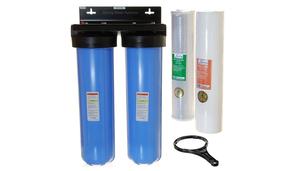 Household Water Filtration System Reviews Ispring Wgb22b 2 Stage 20 Inch Big Blue Whole House Water Filter