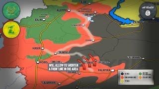 8 мая 2017. Военная обстановка в Сирии. Бои против ИГИЛ в Сирийской пустыне. Русский перевод.