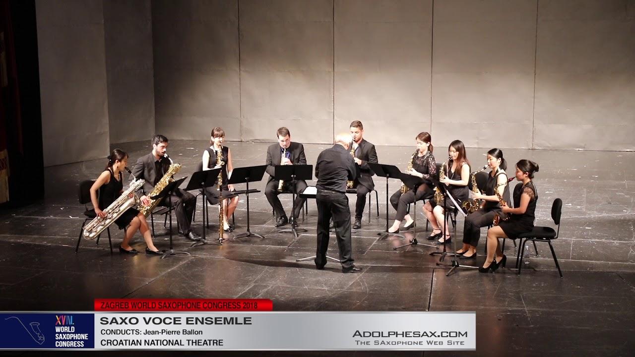 Sinfonietta by Francis Poulenc   Saxo Voce Ensemble   XVIII World Sax Congress 2018 #adolphesax