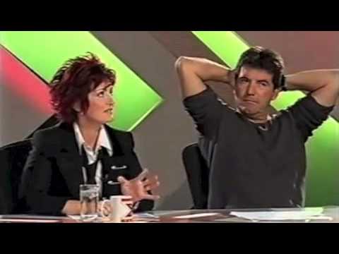 X Factor - Sharon throws water over Simon Cowell