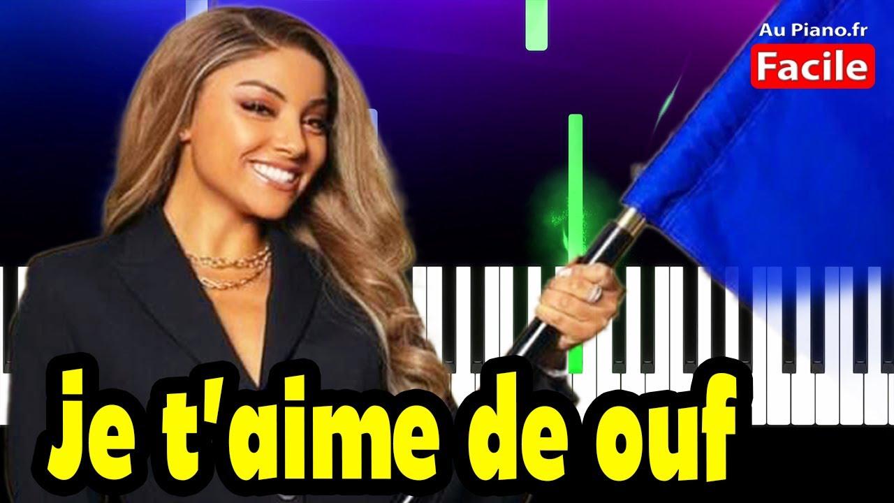 Download Wejdene Je t'aime de ouf Piano Cover Tutorial Lyrics (Au Piano.Fr)