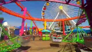 Santa Monica Pier Rides - Santa Monica California - 360° Version for VR Viewing