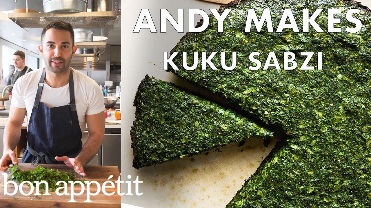 Andy Makes Kuku Sabzi (Persian Frittata) | From the Test Kitchen | Bon Appétit