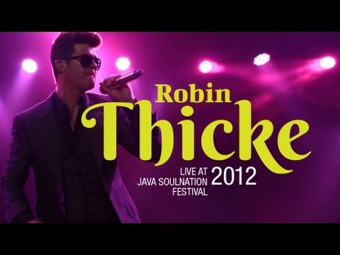 """Robin Thicke """"Lost Without You"""" live at Java Soulnation Festival 2012"""