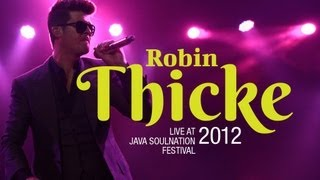 "Robin Thicke ""Lost Without You"" live at Java Soulnation Festival 2012"