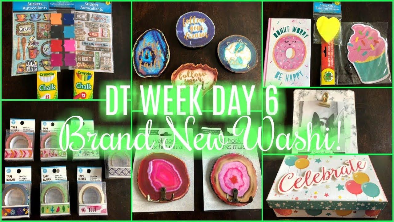 DOLLAR TREE HAUL   NEW WASHI!!   DT WEEK DAY 6 - YouTube