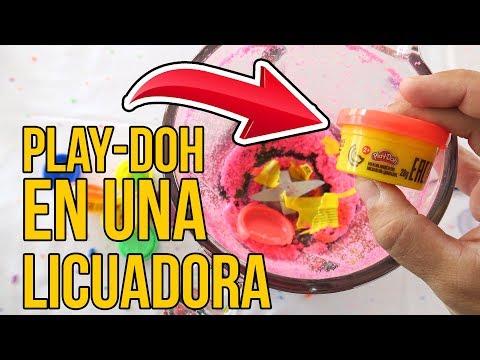 MIRA LO QUE SUCEDE CUANDO TRITURAS PLAY DOH EN UNA LICUADORA - Experimento watch video