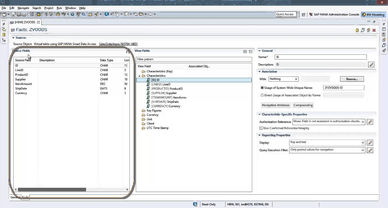 How to create an Open ODS View