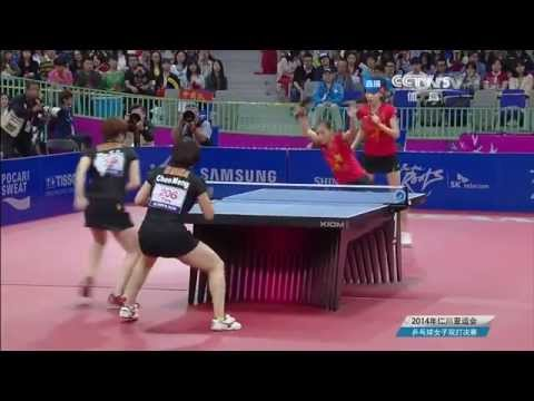 2014 Asian Games WD-Final: Liu Shiwen/Wu Yang - Cheng Meng/Zhu Yuling [HD] [Full Match/Chinese]