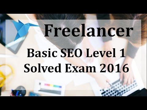 Freelancer SEO Level 1 Exam 2016 May by Ramandeep Singh