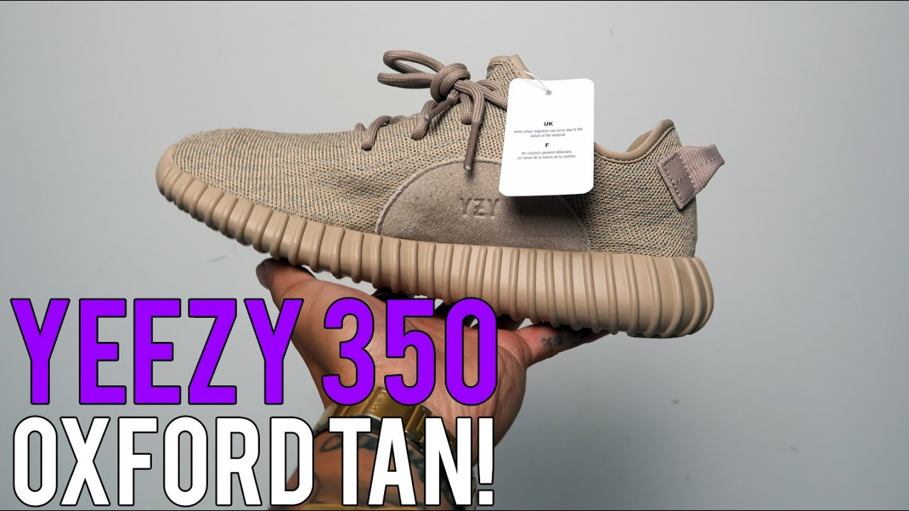 ADIDAS YEEZY BOOST 350 OXFORD TAN UNBOX / ON FEET // SNEAKER REVIEW! -  YouTube