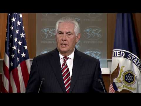 Department of State Press Briefing with Secretary of State Rex Tillerson
