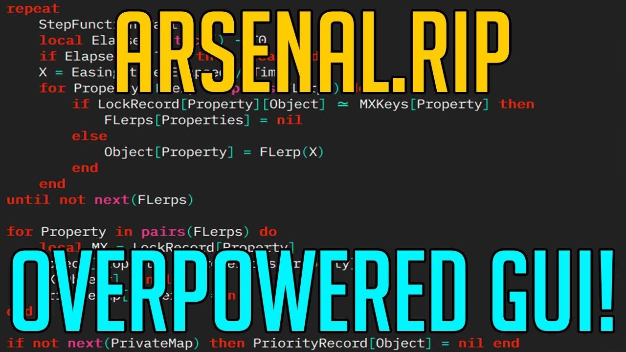 Is Robloxscripts.com Safe Arsenal Hack Script Arsenal Rip Gui Showcase Youtube